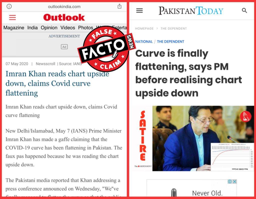Imran khan reads corona chart upside down